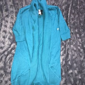 NWT EXPRESS Teal Fly Away Cardigan SWEATER Small